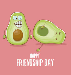 happy friendship day cartoon comic greeting card vector image