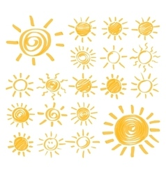 Highlighter sun set vector