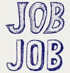 Job concept vector image