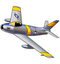 Korean war fighter jet vector