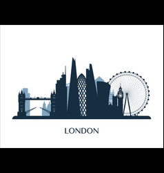 London skyline monochrome color vector
