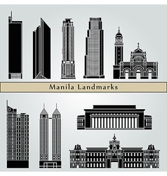 Manila landmarks and monuments vector