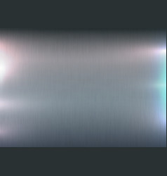 Metallic polished texture background light glare vector