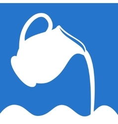 Milk logo in a blue and white vector