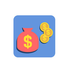 mobile business icon vector image