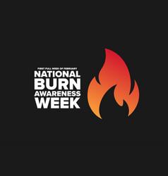 National burn awareness week first full week of vector