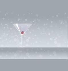 Official cocktail icon the unforgettable aviation vector