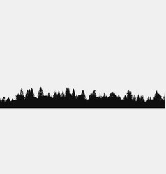 Panorama realistic forest vector