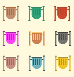 Park trash urn set vector