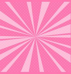 Pink pop art retro background with sunbeams vector