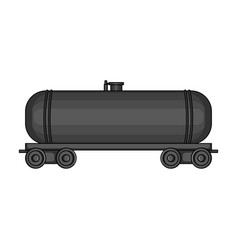 Railway tank caroil single icon in monochrome vector