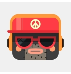 Rapper avatar Trendy gangsta squared vector image