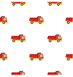 Red toy truck pattern seamless vector