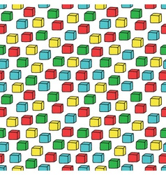 seamless pattern with colored cubes vector image