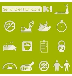 Set of diet icons vector