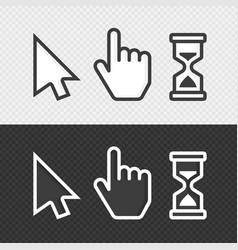 smooth cursors vector image