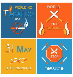 stop smoking banner forbidden harmful habit vector image