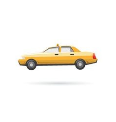 Taxi isolated on a white backgrounds vector image