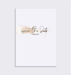 tender soft gold design wedding save date vector image