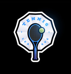 tennis abstract shape logo modern professional vector image