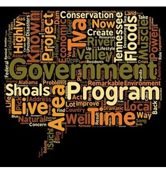 The TVA text background wordcloud concept vector