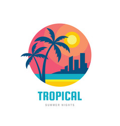 tropical summer holiday - concept business design vector image