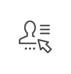 User profile line icon vector