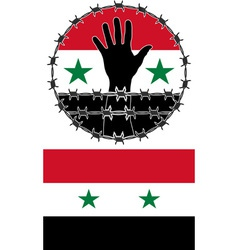 Violation human rights in syria vector