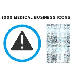 Warning Error Icon with 1000 Medical Business vector