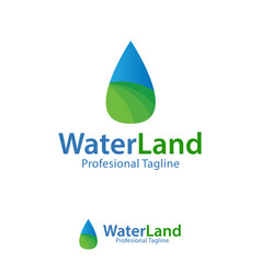 water land design template logo iconic symbols vector image