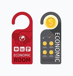 Aper door handle lock hangers concept economic vector