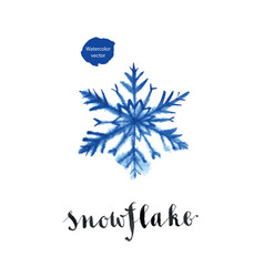 blue snowflake for winter holidays vector image vector image