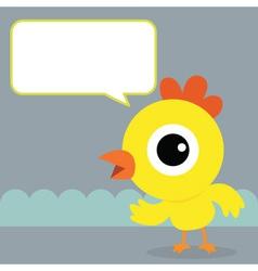 Chicken Bubble Talk vector image vector image