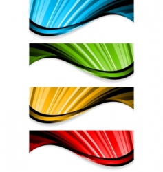 collection of bright wavy banners vector image vector image