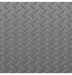 Diamond Plated Seamless metal sheet vector image
