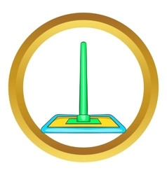Floor cleaning mop icon vector image