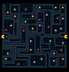 help character to find a way out of the maze vector image