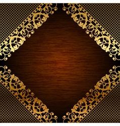 Brown ornate frame vector image vector image