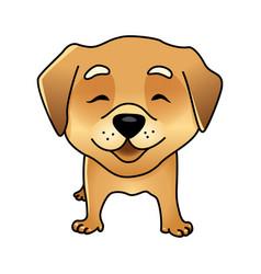 Cute happy dog vector