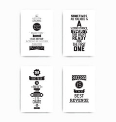 set posters quote vector image vector image