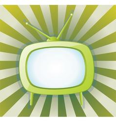 vector retro tv set vector image vector image