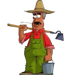 black farmer vector image