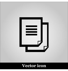 Document icon on grey background vector image vector image
