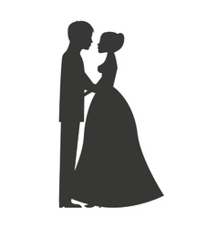 Married couple isolated icon design vector image vector image