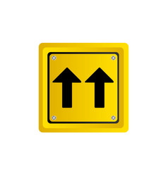 Metallic realistic yellow square shape frame same vector