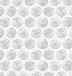 Seamless Pattern with Globes vector image
