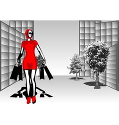 shopping street vector image vector image