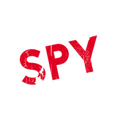 spy rubber stamp vector image vector image