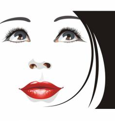 Woman's portrait vector