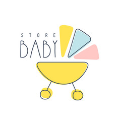 baby store logo colorful hand drawn vector image vector image